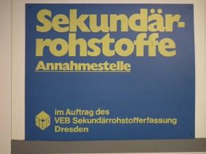 DDR_Museum_Zeitreise_Radebeul_Schild_SERO_Annahmestelle